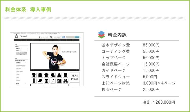 ホームページ制作・料金事例1